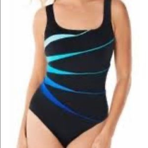 NWT St John's Bay One Piece Swimsuit S 18